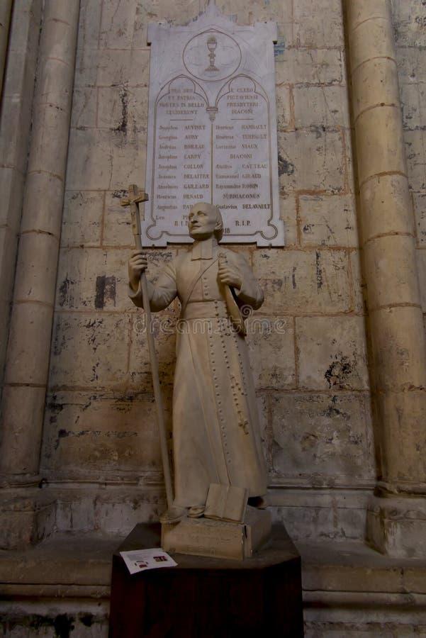 普瓦捷,法国- 2016年9月12日,圣路易图  免版税库存图片