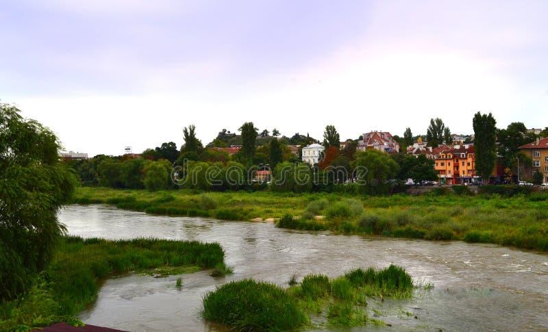 普罗夫迪夫市马里查河河保加利亚 库存图片