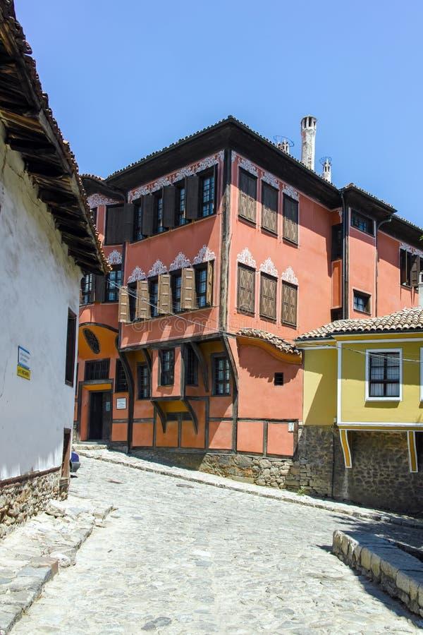 普罗夫迪夫,保加利亚- 2017年6月10日:历史博物馆大厦在普罗夫迪夫老镇  免版税库存图片