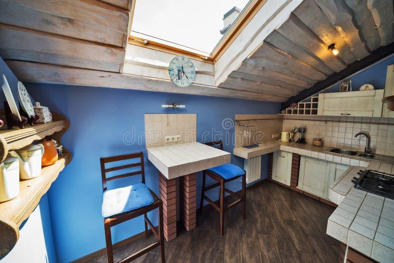 普罗旺斯样式的厨房 免版税图库摄影