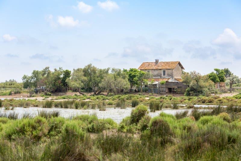 普罗旺斯的沼泽的失去的房子 免版税图库摄影
