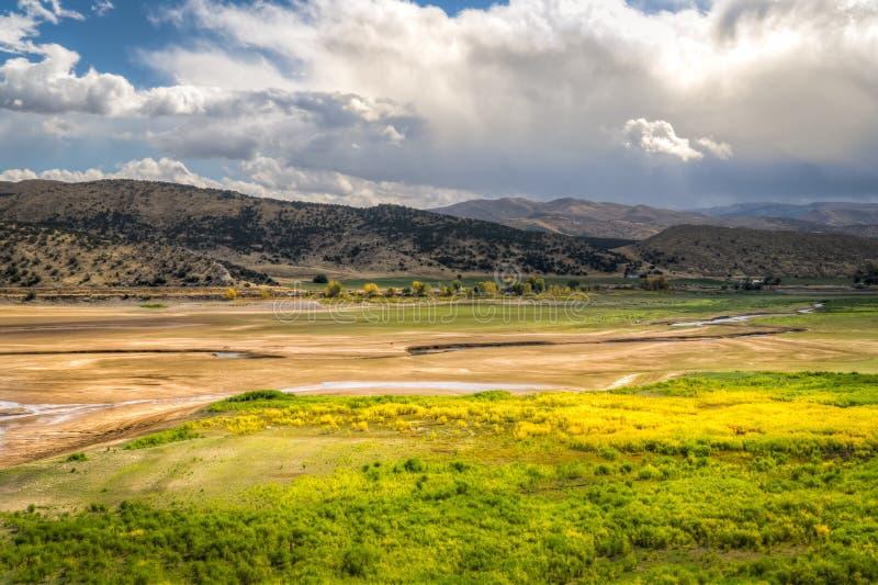 普罗沃河在犹他,美国 库存图片