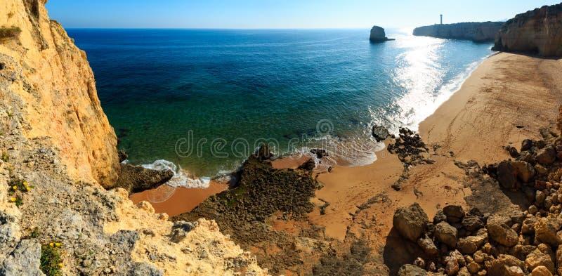 普腊亚dos Caneiros阿尔加威,葡萄牙 库存图片