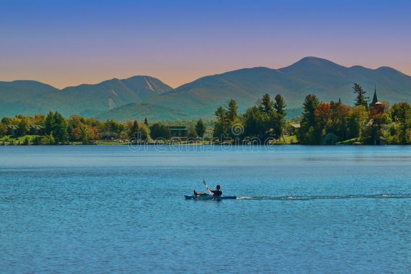 普莱西德湖,纽约 图库摄影