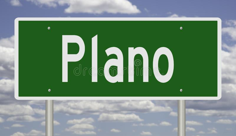 普莱诺的得克萨斯高速公路标志 免版税库存图片