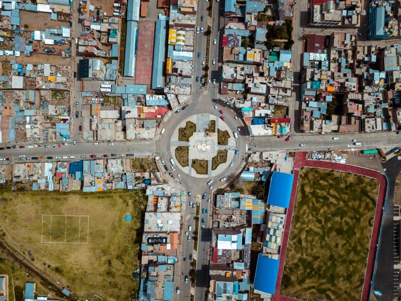 普诺的天线在秘鲁 库存照片