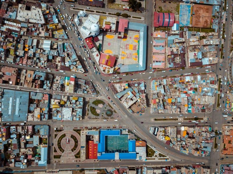 普诺的天线在秘鲁 免版税库存照片