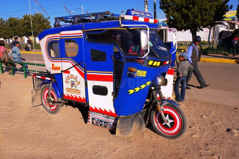 普诺秘鲁/9月15日2013/colourfull和独特地样式 免版税图库摄影