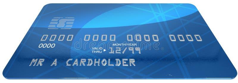 普通信用卡 库存例证