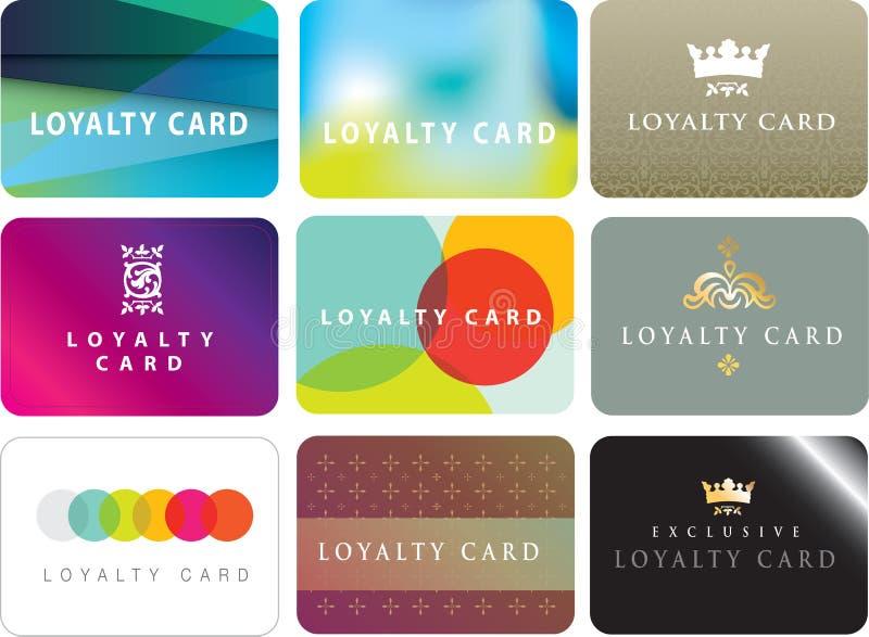 普通忠诚卡片的汇集 库存例证