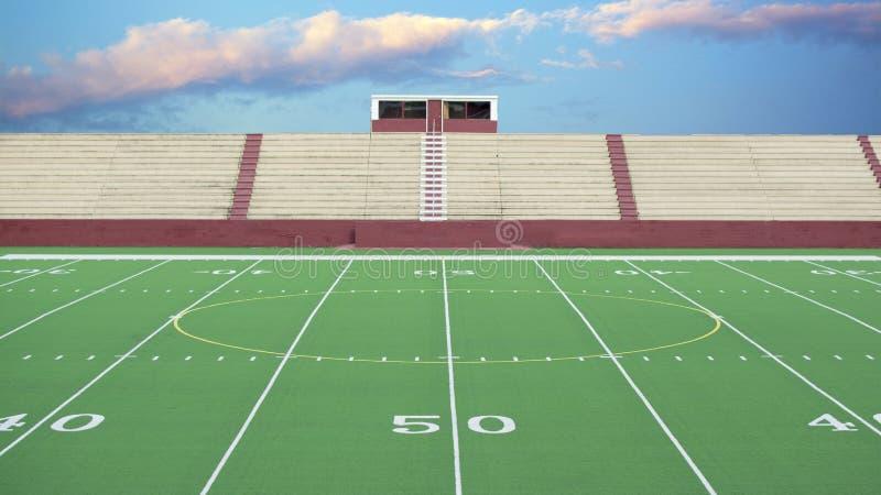 普通橄榄球领域背景 免版税库存照片