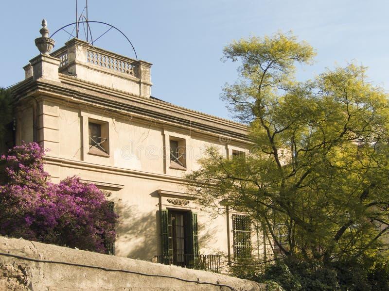 普通的房子在巴塞罗那 库存照片