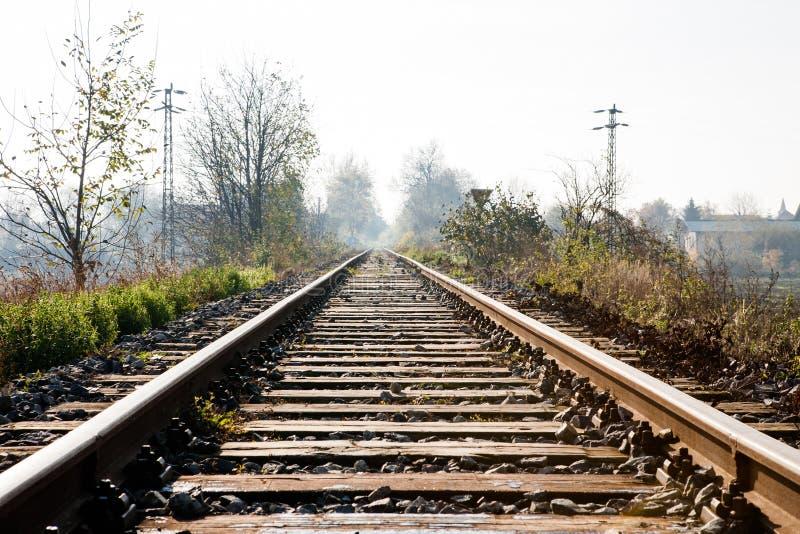 普通车的铁路 免版税库存照片