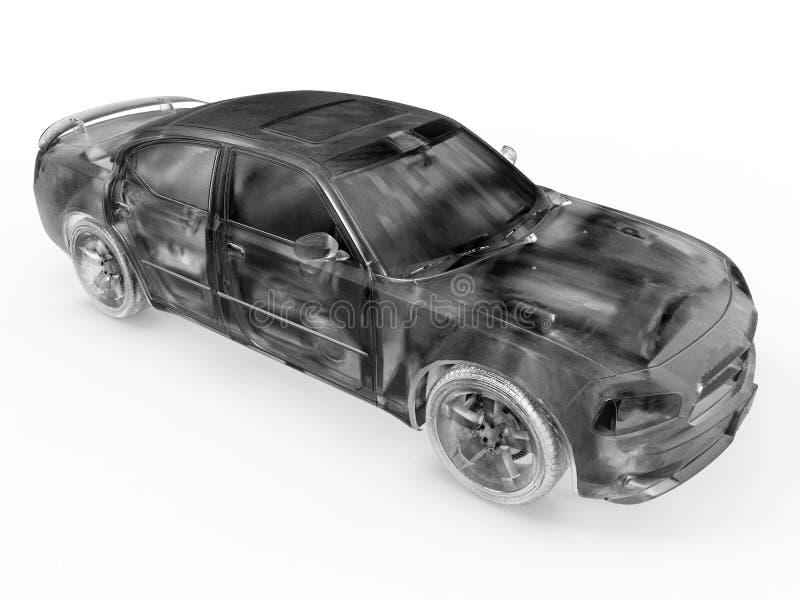 普通轿车汽车详细的例证 皇族释放例证