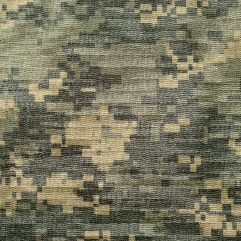 普遍伪装样式,军队作战一致的数字式camo,美国军事ACU宏观特写镜头,详细的大裂口中止织品 免版税图库摄影