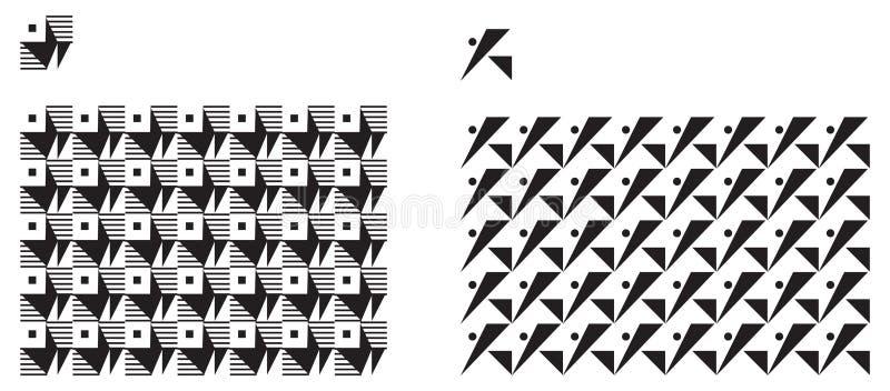 普遍各种各样的几何无缝的样式 库存例证