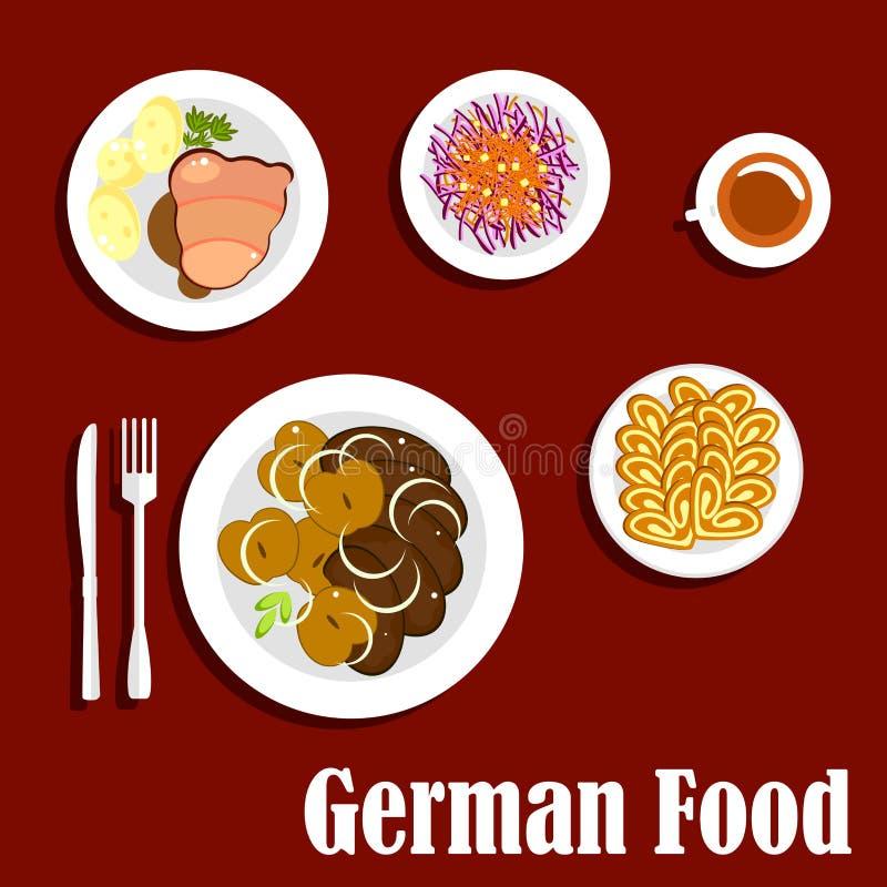 普遍的全国德国烹调盘 向量例证