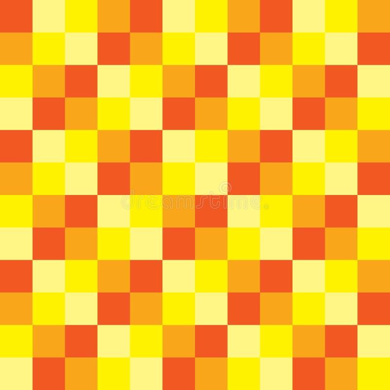 普遍的夏天颜色口气验查员棋正方形摘要纹理 库存例证