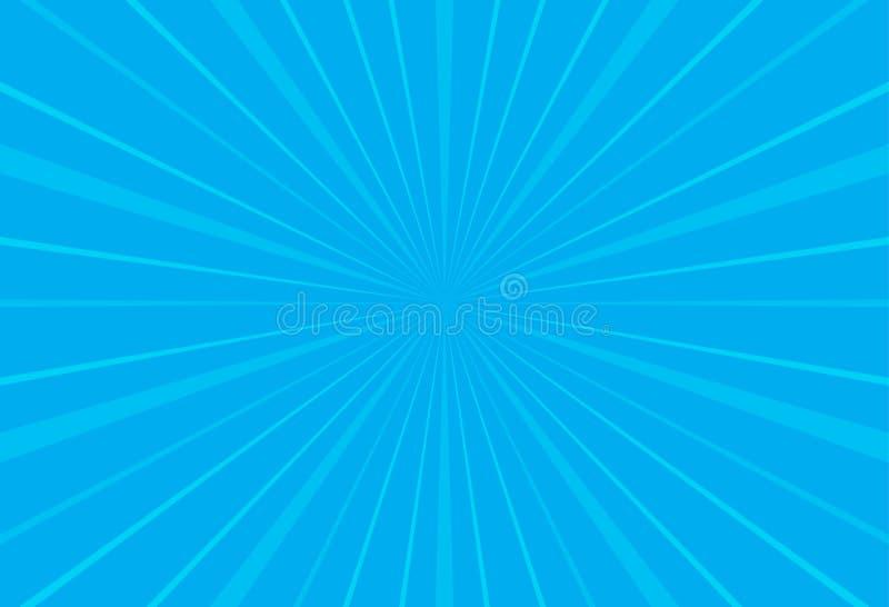 普遍的天空蔚蓝光芒太阳光星爆炸背景电视葡萄酒 向量例证