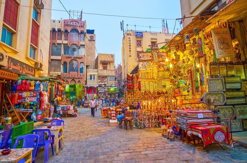 普遍的市场在开罗,埃及 库存图片