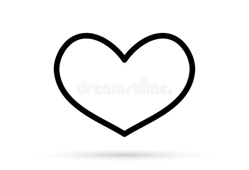 普遍的心脏图画爱华伦泰标志标志隔绝了 库存例证