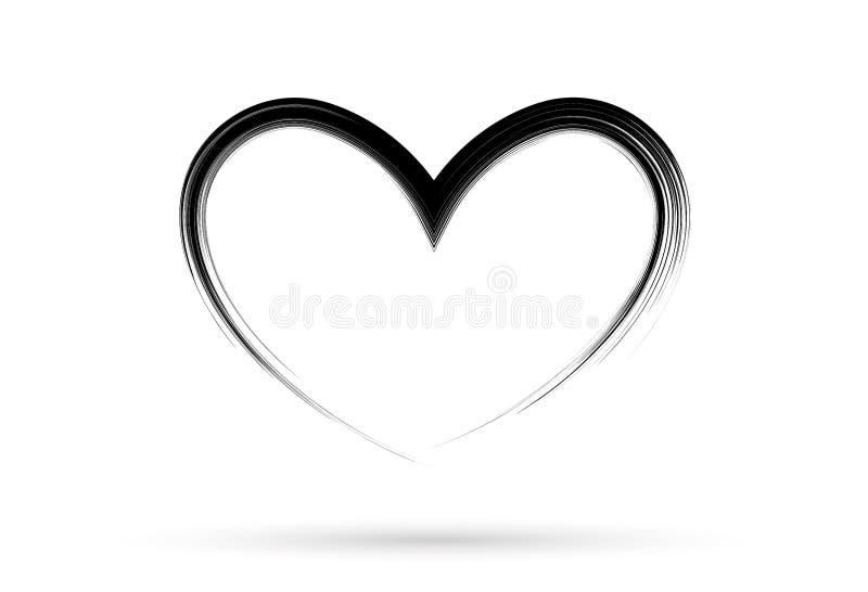 普遍的心脏图画爱华伦泰标志标志隔绝了 向量例证