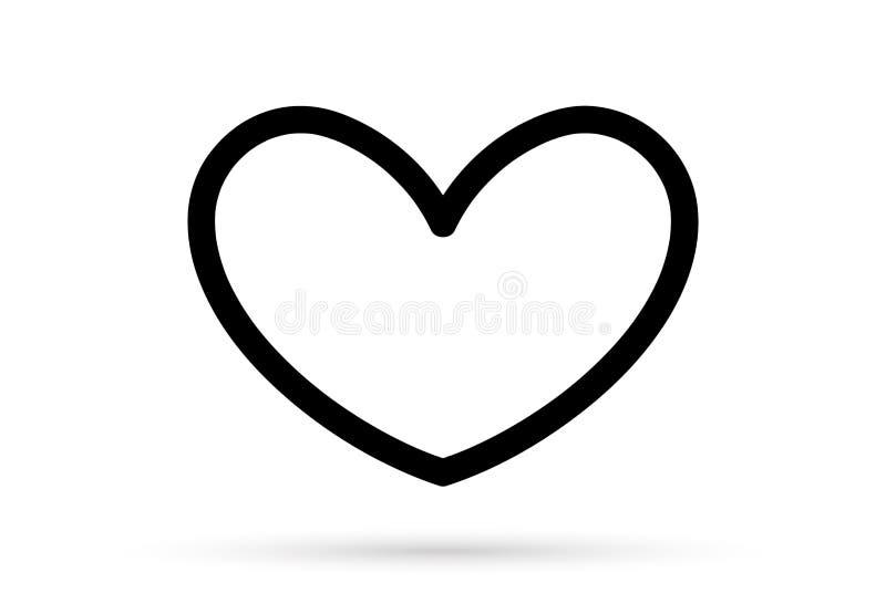 普遍的心脏图画爱华伦泰标志标志隔绝了 皇族释放例证