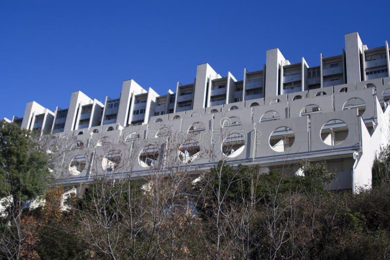 普遍的房子给在热那亚人的西部的Lavatrici改名 免版税库存图片