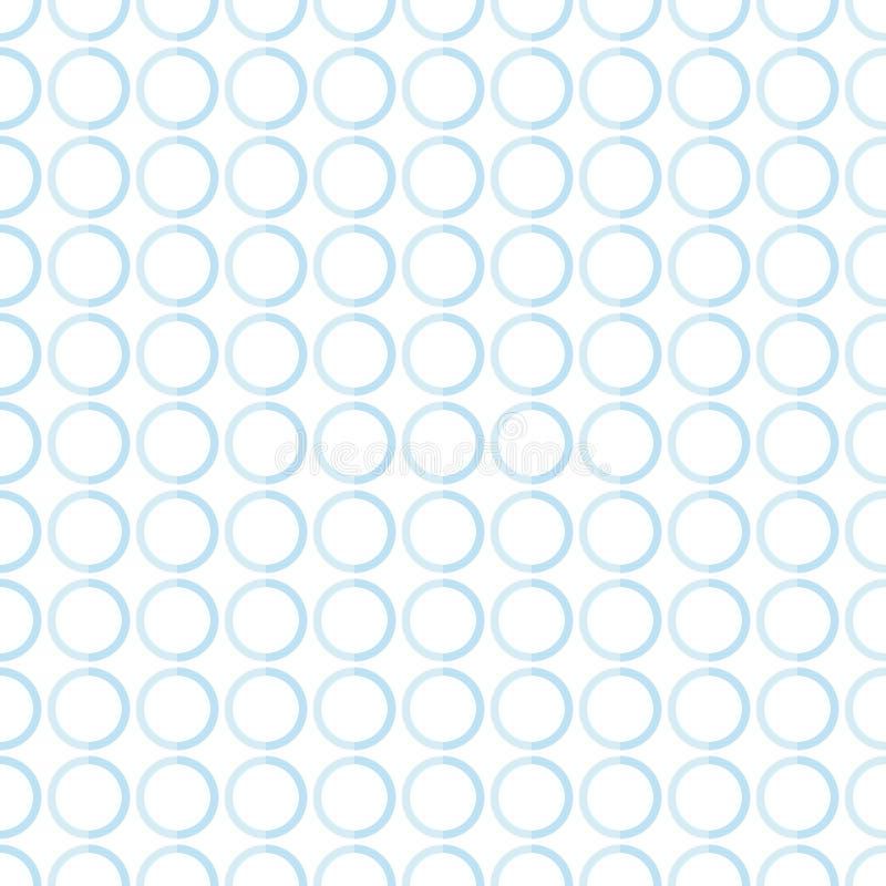 普遍的抽象浅兰的欧洲华美的卵形圈子堆 皇族释放例证