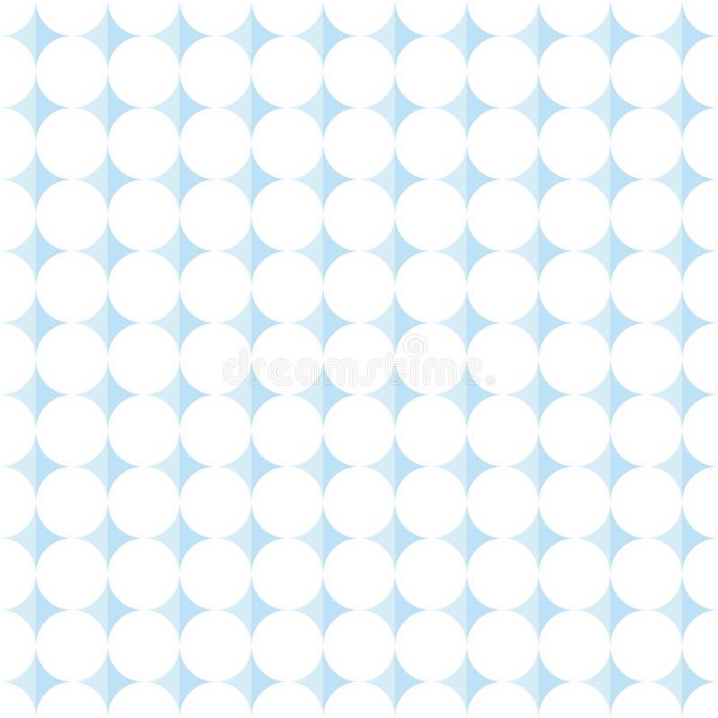 普遍的抽象浅兰的欧洲华美的卵形圈子堆 库存例证