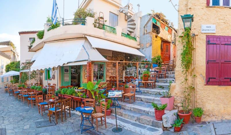 普遍的旅游咖啡馆 库存图片