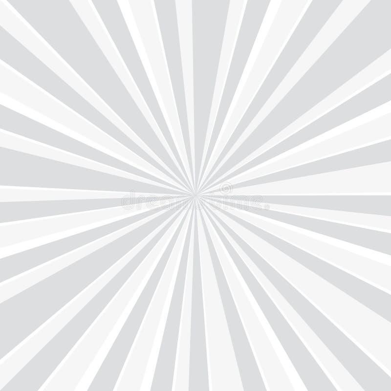 普遍的白色光芒星爆炸背景电视葡萄酒-传染媒介 向量例证