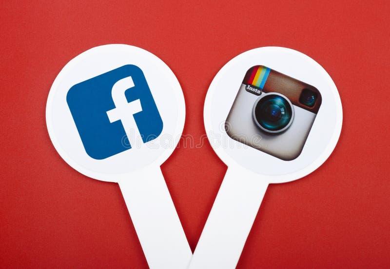 普遍的社会媒介象 库存图片