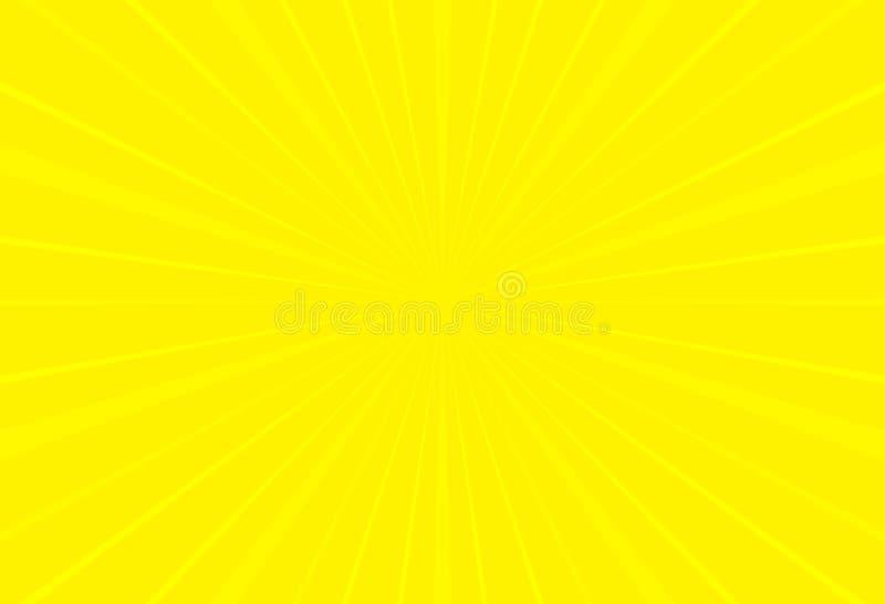 普遍的黄色光芒太阳光星爆炸背景电视葡萄酒 皇族释放例证