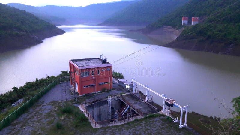 普鲁利耶水坝 免版税库存照片