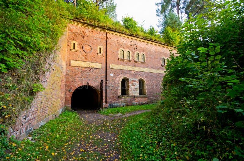 普鲁士人的堡垒在Gizycko,波兰 免版税库存照片