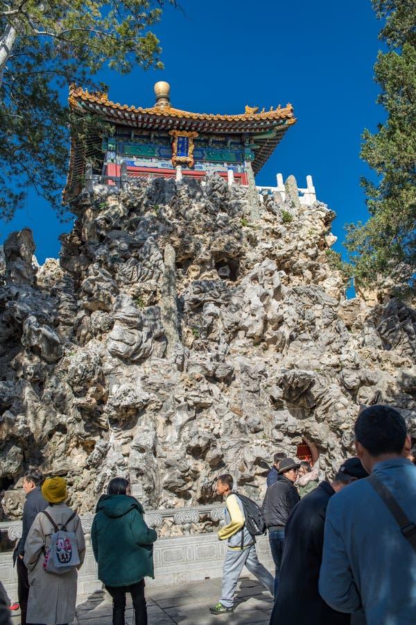 景山公园在北京,中国 免版税库存图片