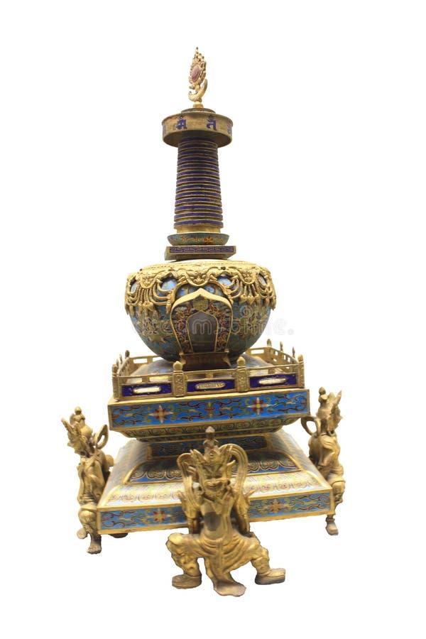 景泰蓝制喇嘛教徒塔 图库摄影