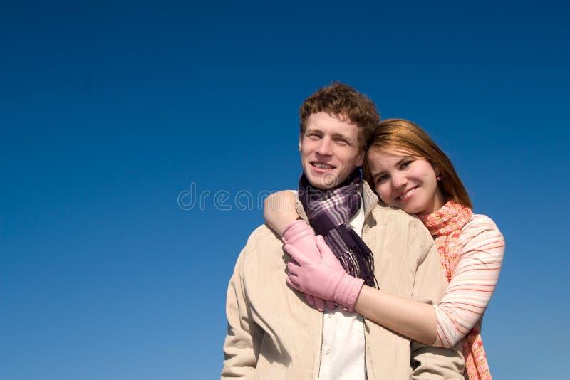 晴朗夫妇的日 免版税库存照片