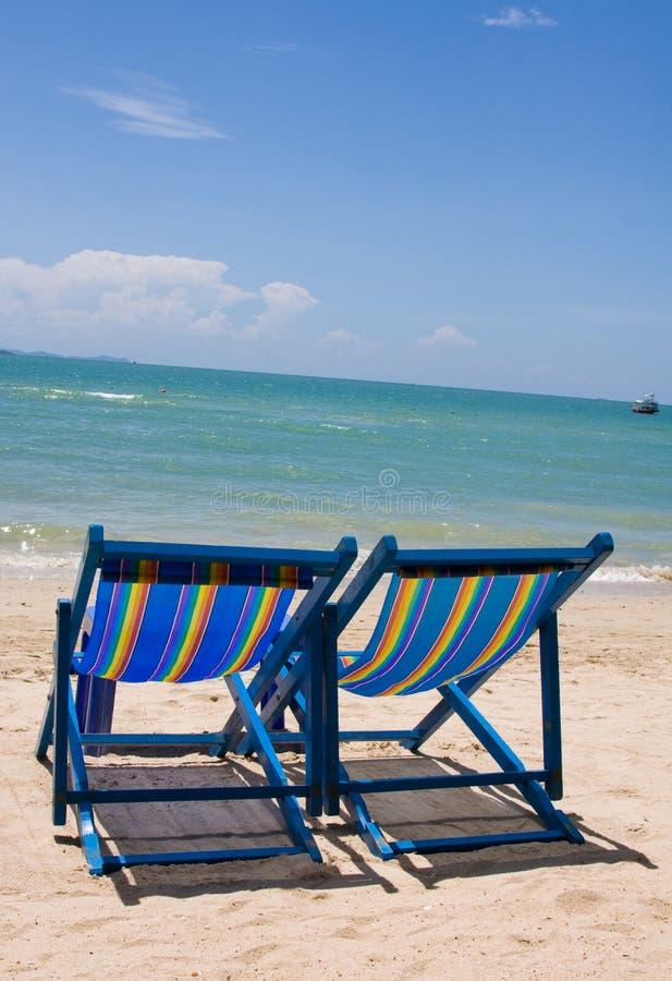 晴朗海滩的日 库存照片