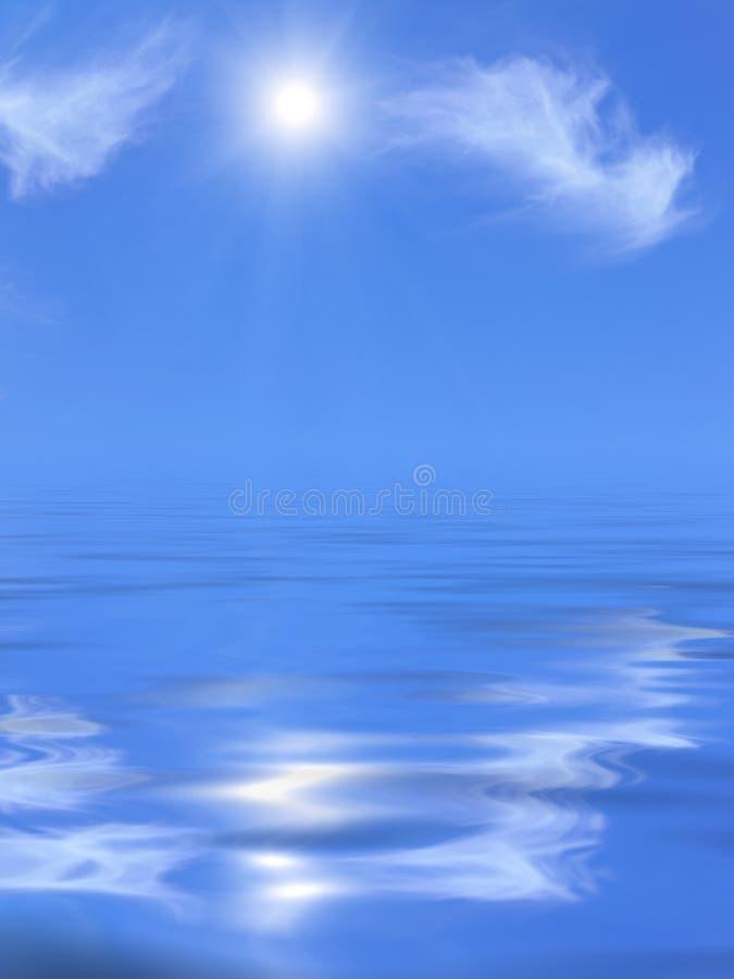晴朗海运的天空 库存图片