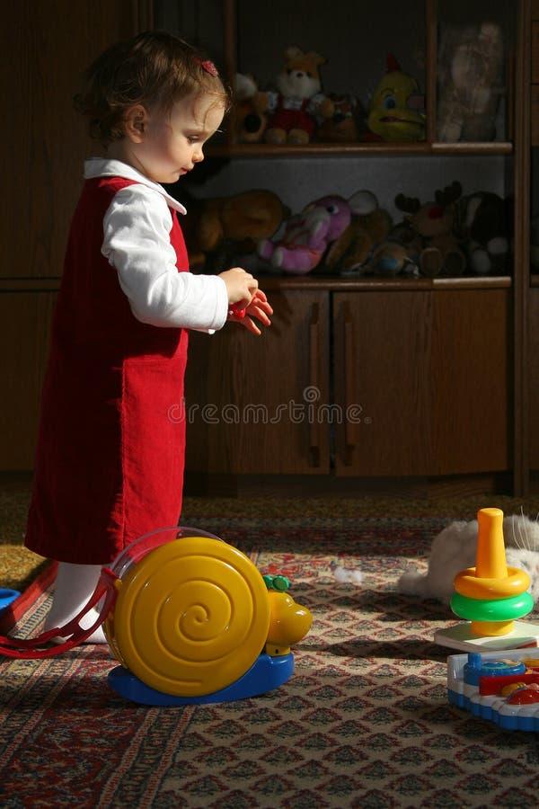 晴朗的儿童居室s 免版税库存照片