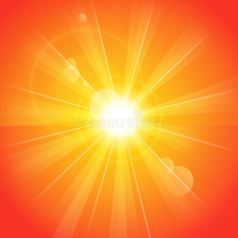 晴朗的光芒 向量例证