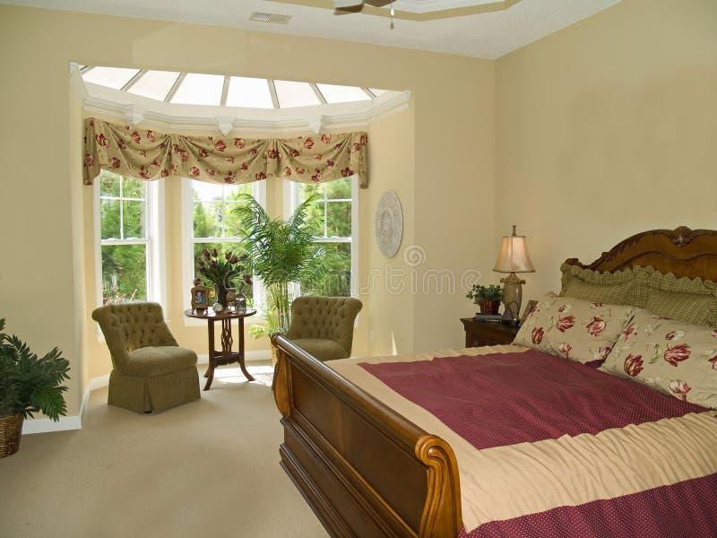 晴朗的卧室 库存图片