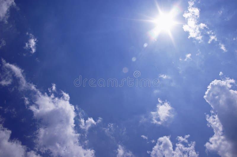 晴朗的天空 免版税图库摄影