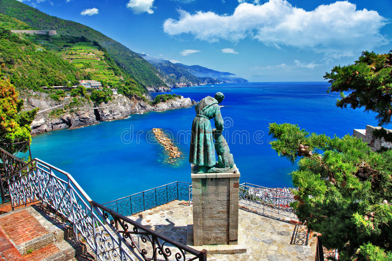 晴朗的意大利的颜色 免版税库存照片