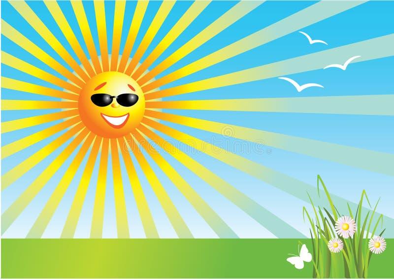 晴朗的日 向量例证