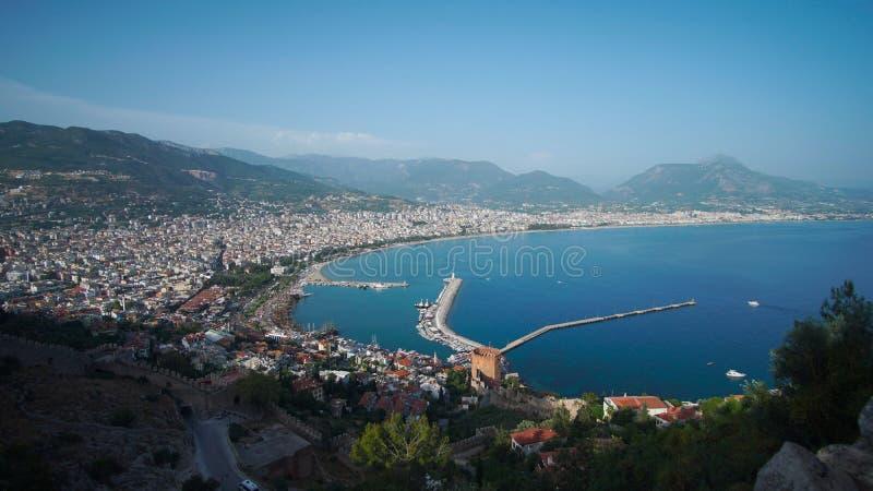 晴朗的海湾在阿拉尼亚 免版税库存照片