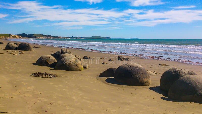 晴朗的海滩在新西兰 免版税图库摄影