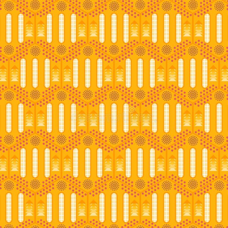 晴朗的现代装饰几何重复的样式 向量例证